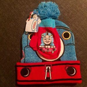 Thomas /& Friends Boys Thomas the Tank Engine Hat and Gloves Set
